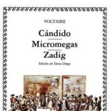 Libros: CÁNDIDO; MICROMEGAS; ZADIG ED. CATEDRA. Lote 103765547