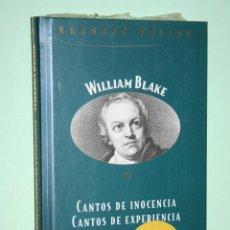 Libros: WILLIAM BLAKE *** LIBRO DE POESÍA *** COLECCION GRANDES POETAS (ORBIS - FABBRI) *** PRECINTADO. Lote 119251683