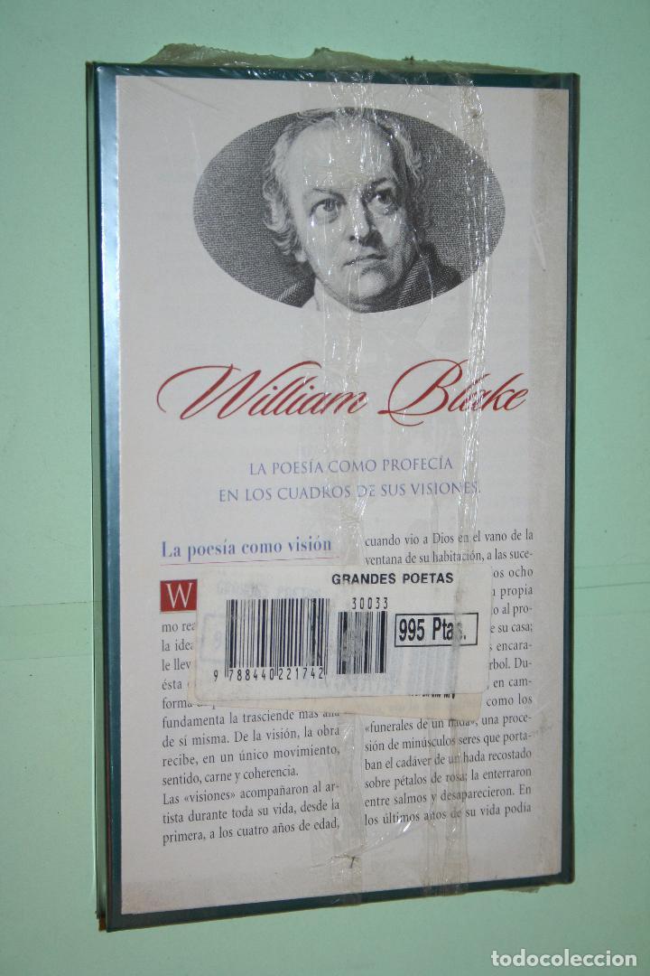 Libros: WILLIAM BLAKE *** LIBRO DE POESÍA *** COLECCION GRANDES POETAS (ORBIS - FABBRI) *** PRECINTADO - Foto 2 - 119251683