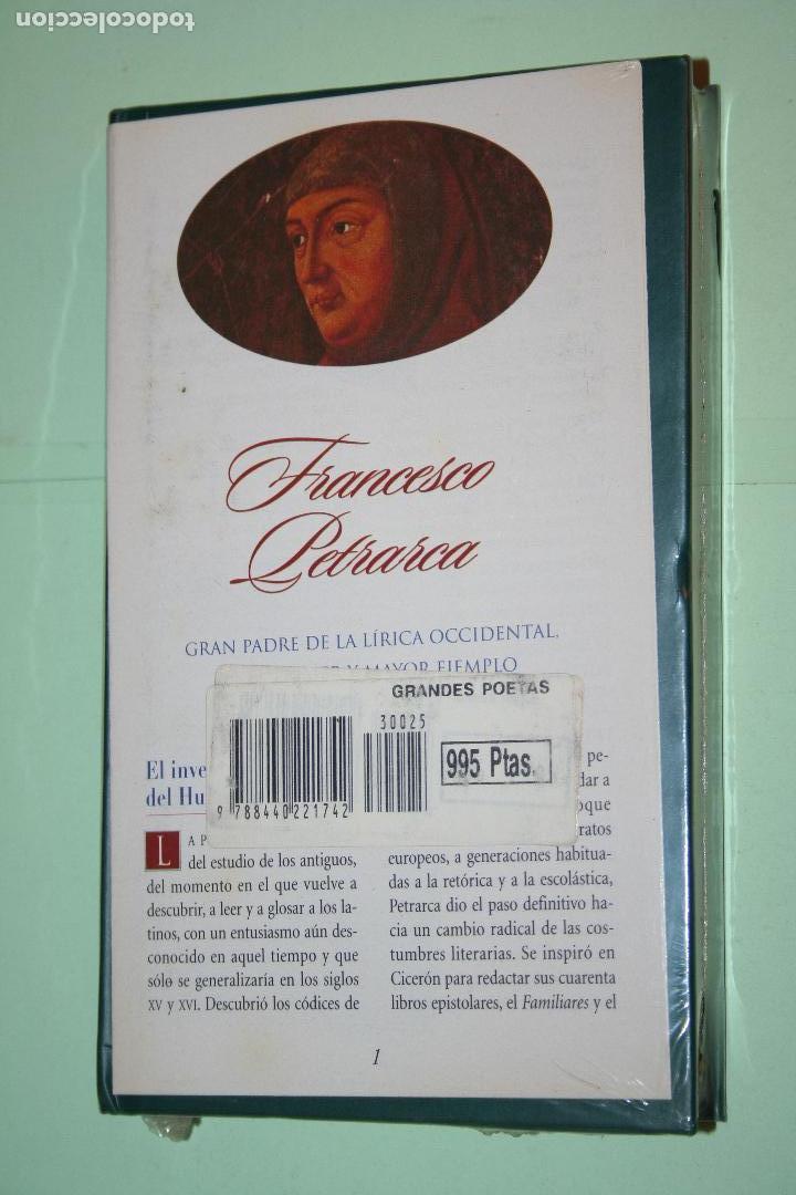 Libros: FRANZESCO PETRARCA *** LIBRO DE POESÍA *** COLECCION GRANDES POETAS (ORBIS - FABBRI) *** PRECINTADO - Foto 2 - 201985628