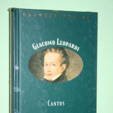 Libros: GIACOMO LEOPARDI *** LIBRO DE POESÍA *** COLECCION GRANDES POETAS (ORBIS - FABBRI) *** PRECINTADO. Lote 119252591