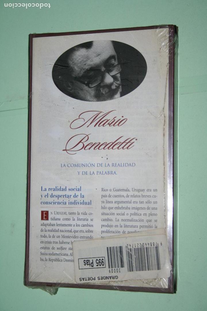 Libros: MARIO BENEDETTI *** LIBRO DE POESÍA *** COLECCION GRANDES POETAS (ORBIS - FABBRI) *** PRECINTADO - Foto 2 - 119254003