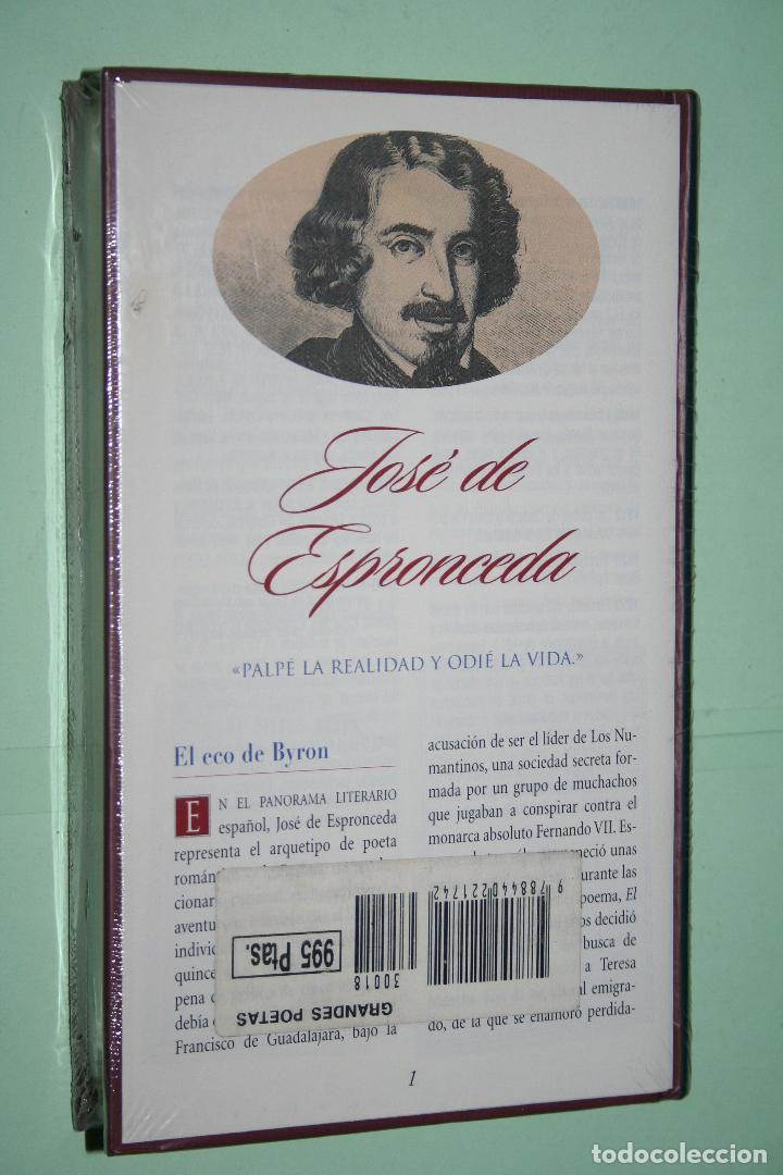 Libros: JOSÉ DE ESPRONCEDA *** LIBRO DE POESÍA *** COLECCION GRANDES POETAS (ORBIS - FABBRI) *** PRECINTADO - Foto 2 - 119263919