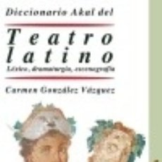 Libros: DICCIONARIO DEL TEATRO LATINO. Lote 100184986