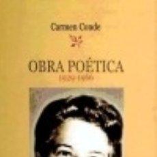 Libros - Obra Poética de Carmen Conde. (1929-1966) Biblioteca Nueva - 70784147