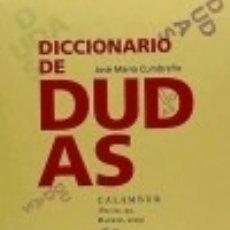 Libros: DICCIONARIO DE DUDAS CALAMBUR EDITORIAL. Lote 70740557