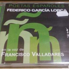 Libros: POETAS ESPAÑOLES - LORCA EN LA VOZ DE PACO VALLADARES. Lote 133905931