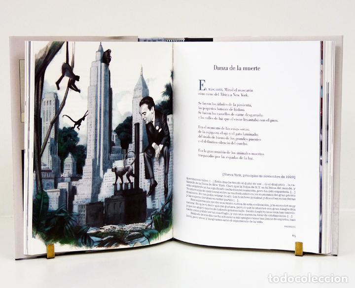 Libros: Federico GARCÍA LORCA.– Poeta en Nueva York. Ilustraciones de Fernando Vicente. Reino de Cordelia - Foto 2 - 134964107