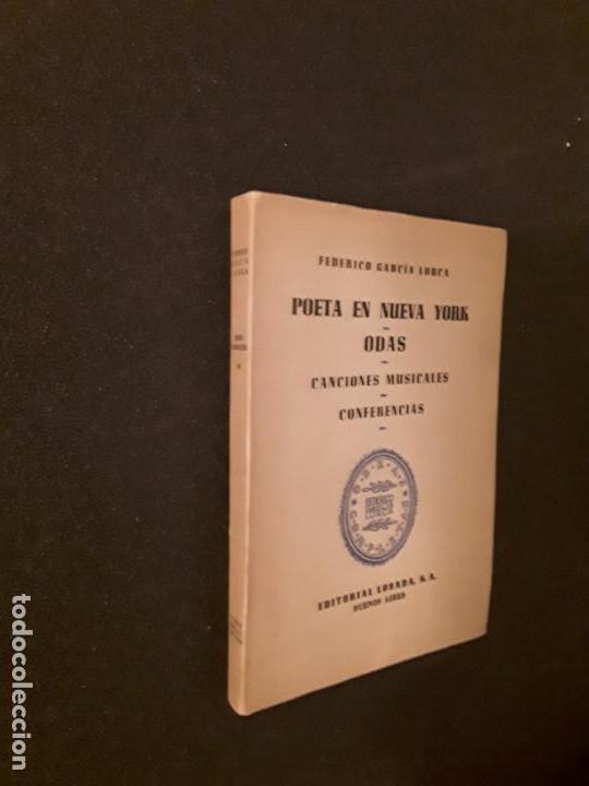 Libros: García Lorca, Federico.Poeta en Nueva York. Odas. Canciones musicales. Conferencias. - Foto 2 - 146128762