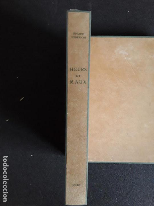 Libros: Diederichs Roland. Heurs et Maux. Illustrations de Jacques Arnoux. Poemas y prosa. - Foto 3 - 152557022