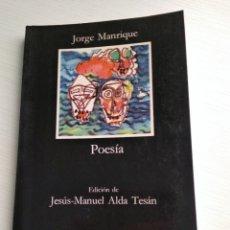 Libros: POESÍA. JORGE MANRIQUE. Lote 152780042