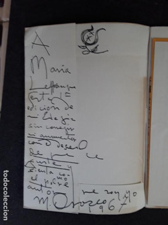 Libros: (Poesía) Orozco Manuel. Elegía a un amigo. - Foto 3 - 155651254
