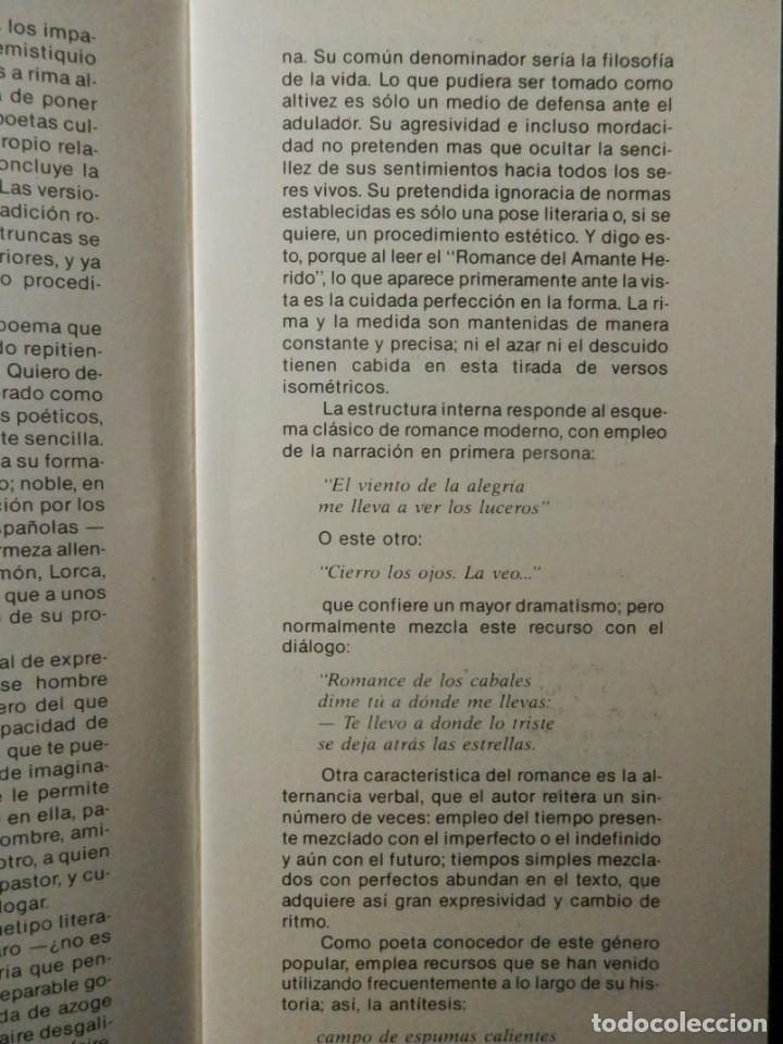 Libros: ROMANCE DEL AMANTE HERIDO, DE ALFONSO LOPEZ MARTINEZ. 199O. ALMERIA. - Foto 3 - 160386794