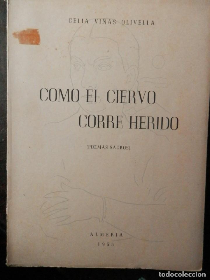 COMO EL CIERVO CORRE HERIDO, DE CELIA VIÑAS OLIVELLA. ALMERIA 1955 (Libros Nuevos - Literatura - Poesía)