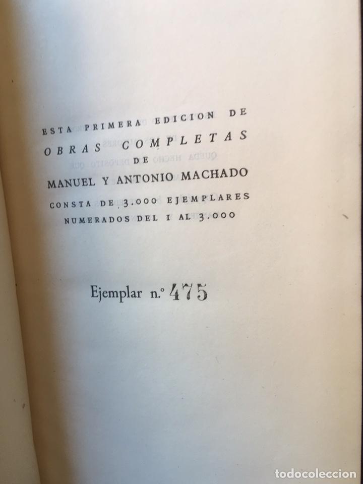 Libros: MANUEL Y ANTONIO MACHADO - OBRAS COMPLETAS - PLENITUD - 1947 - Limitada y numerada - PIEL - Foto 6 - 165076112