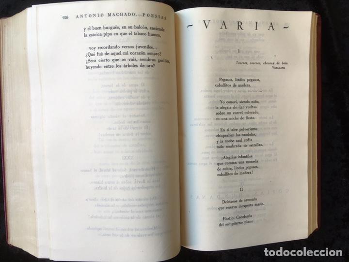 Libros: MANUEL Y ANTONIO MACHADO - OBRAS COMPLETAS - PLENITUD - 1947 - Limitada y numerada - PIEL - Foto 7 - 165076112
