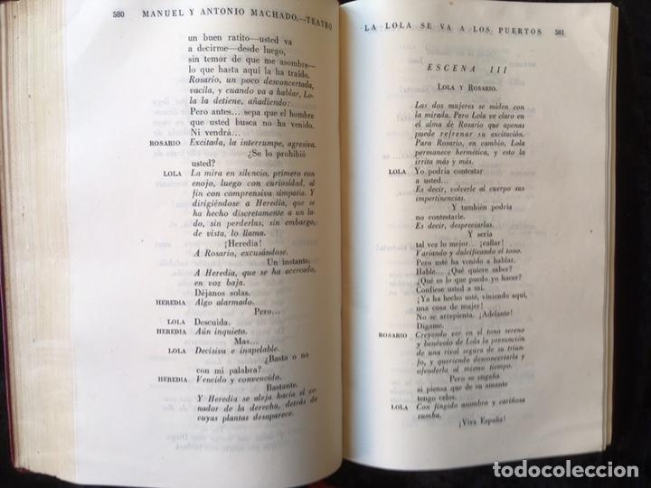 Libros: MANUEL Y ANTONIO MACHADO - OBRAS COMPLETAS - PLENITUD - 1947 - Limitada y numerada - PIEL - Foto 8 - 165076112