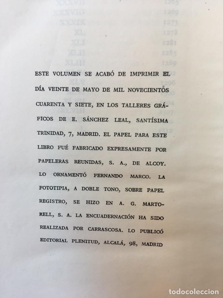 Libros: MANUEL Y ANTONIO MACHADO - OBRAS COMPLETAS - PLENITUD - 1947 - Limitada y numerada - PIEL - Foto 9 - 165076112