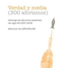 Libros: VERDAD Y MEDIA. Lote 168898973