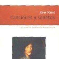 Libros: CANCIONES Y SONETOS. Lote 168899534