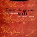 Libros: DIWAN DE POESÍA SUFÍ. Lote 169175638