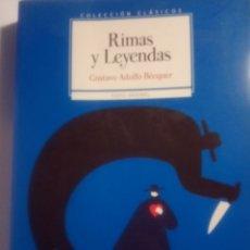 Libros: RIMAS Y LEYENDAS BÉCQUER.EDITORIAL SM. Lote 218061080