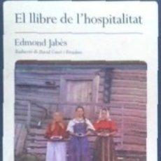 Libros: EL LLIBRE DE LHOSPITALITAT. Lote 178100044