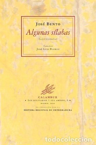 ALGUNAS SÍLABAS - ANTOLOGÍA (JOSÉ BENTO) CALAMBUR 2001 (Libros Nuevos - Literatura - Poesía)