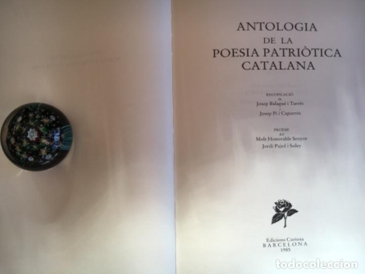 Libros: Antologia de la poesia patriótica catalana. Barcelona 1985 25x18cm. 183 p. Edición Bibliófilo - Foto 2 - 190054976