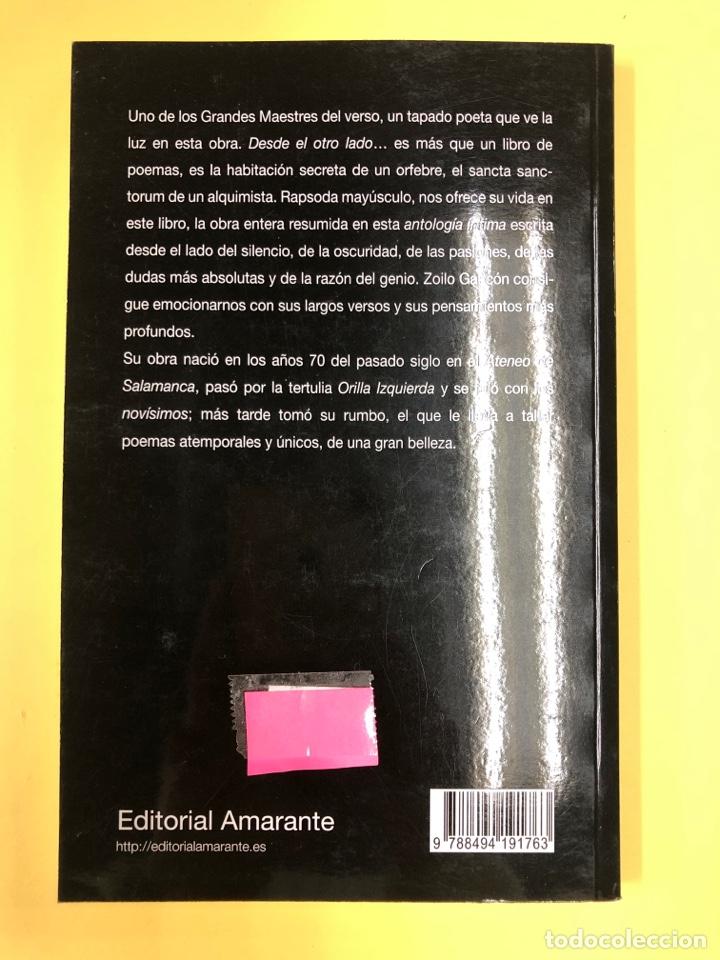 Libros: DESDE EL OTRO LADO DE LA LUZ - ZOILO GASCON - EDITORIAL AMARANTE 1ª EDICION 2013 - Foto 2 - 191714865