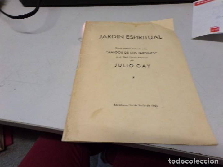 JARDIN ESPIRITUAL - JULIO GAY (Libros Nuevos - Literatura - Poesía)