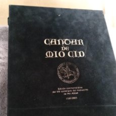 Libros: CANTAR DEL MIO CID: EDICIÓN CONMEMORATIVA VIII CENTENARIO DEL MANUSCRITO DE PER ABBAD CON MONEDA. Lote 198751185