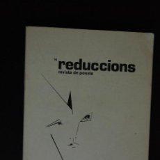 Libros: 6. REDUCCIONS. REVISTA DE POESIA - NÚM. 14 -AGUSTÍ BATRA - JORDI PÀMIAS - BLAI BONET, ETC.. Lote 198934256