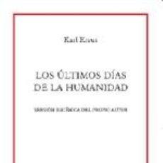 Libros: OS ULTIMOS DIAS DE LA. Lote 205694152