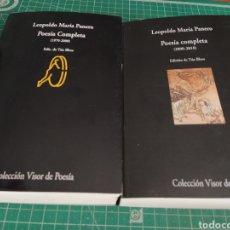Libros: 2 LIBROS LEOPOLDO MARÍA PANERO POESÍA COMPLETA. Lote 209124962