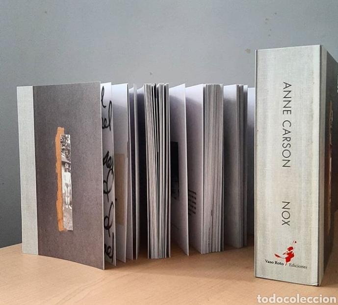 NOX ANNE CARSON LIBRO OBJETO RARO COLECCIONISTA POESIA (Libros Nuevos - Literatura - Poesía)