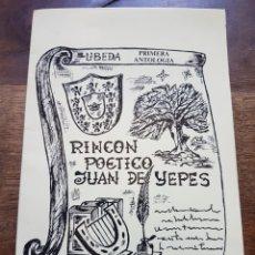 Libros: LIBRITO POESIA JUAN YEPES UBEDA ZXY. Lote 209670093