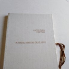 Libros: ANTOLOGÍA POÉTICA MANUEL BENÍTEZ CARRASCO. Lote 211663120