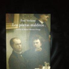 Livres: LOS POETAS MALDITOS, PAUL VERLAINE. Lote 214728682