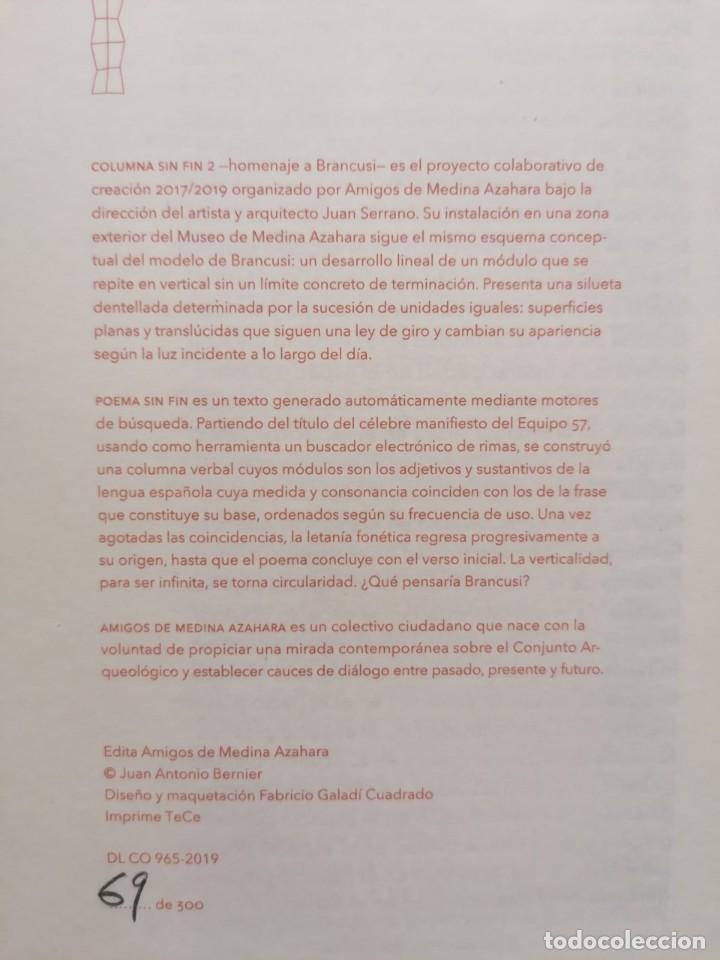 Libros: Poema sin fin (homenaje a Brancusi y Equipo 57), Juan Antonio Bernier, edición limitada y numerada - Foto 3 - 215513790