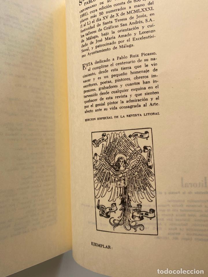 Libros: pablo picasso litoral en el centenario de su nacimiento 1881 - 1981 , segunda edición , malaga - Foto 4 - 221080570