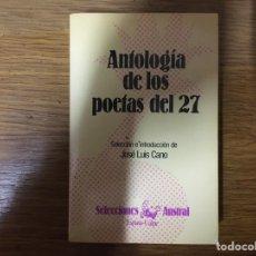 Libros: ANTOLOGÍA DE LOS POETAS DEL 27. Lote 222002016