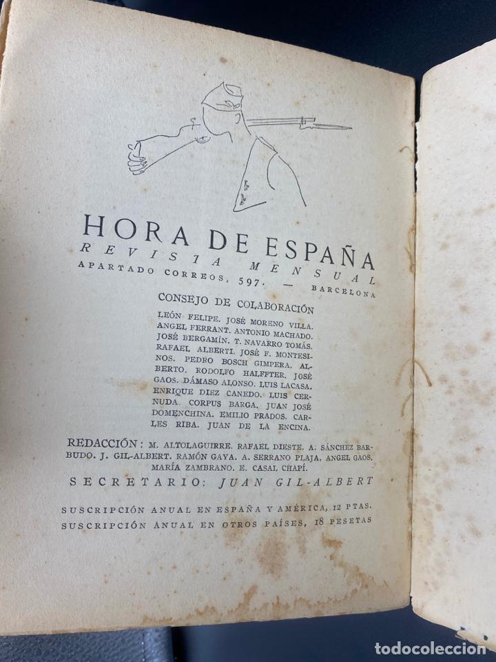 Libros: HORA DE ESPAÑA REVISTA MENSUAL , POESÍA , XIII - BARCELONA 1938 - Foto 6 - 222437056