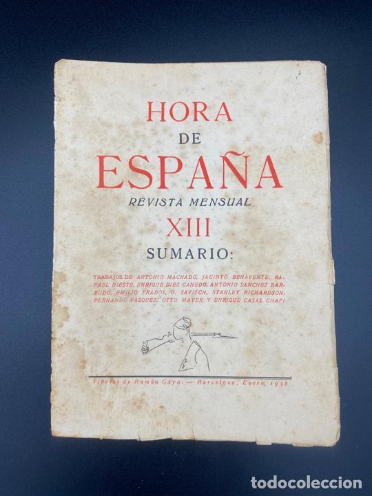 HORA DE ESPAÑA REVISTA MENSUAL , POESÍA , XIII - BARCELONA 1938 (Libros Nuevos - Literatura - Poesía)