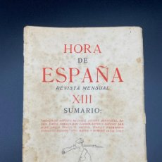 Libros: HORA DE ESPAÑA REVISTA MENSUAL , POESÍA , XIII - BARCELONA 1938. Lote 222437056