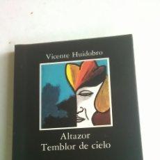 Libros: VICENTE HUIDOBRO. ALTAZOR. TEMBLOR DE CIELO. EDITORIAL CÁTEDRA. 2011. Lote 223585928