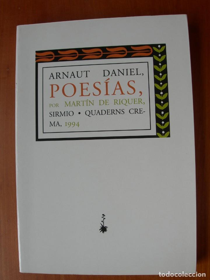 POESÍAS / ARNAUT DANIEL (Libros Nuevos - Literatura - Poesía)
