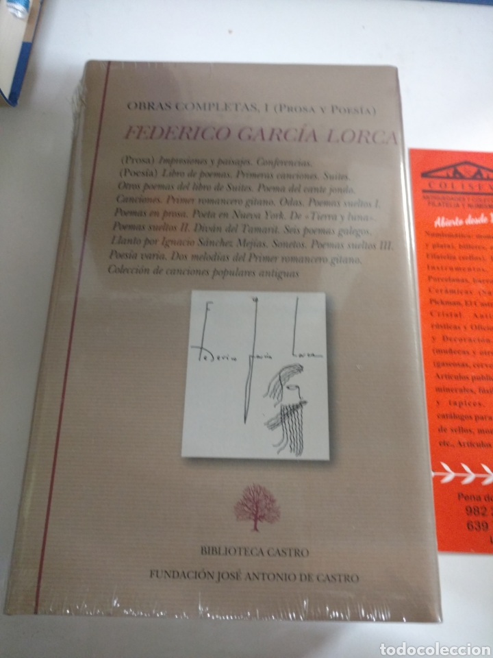 FEDERICO GARCÍA LORCA .OBRAS COMPLETAS I(POESÍA Y PROSA). BIBLIOTECA CASTRO .NUEVO S (Libros Nuevos - Literatura - Poesía)