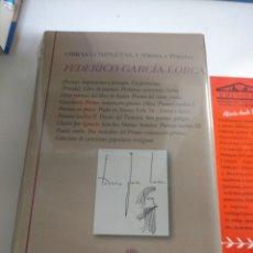 Livros: FEDERICO GARCÍA LORCA .OBRAS COMPLETAS I(POESÍA Y PROSA). BIBLIOTECA CASTRO .NUEVO S. Lote 227560322