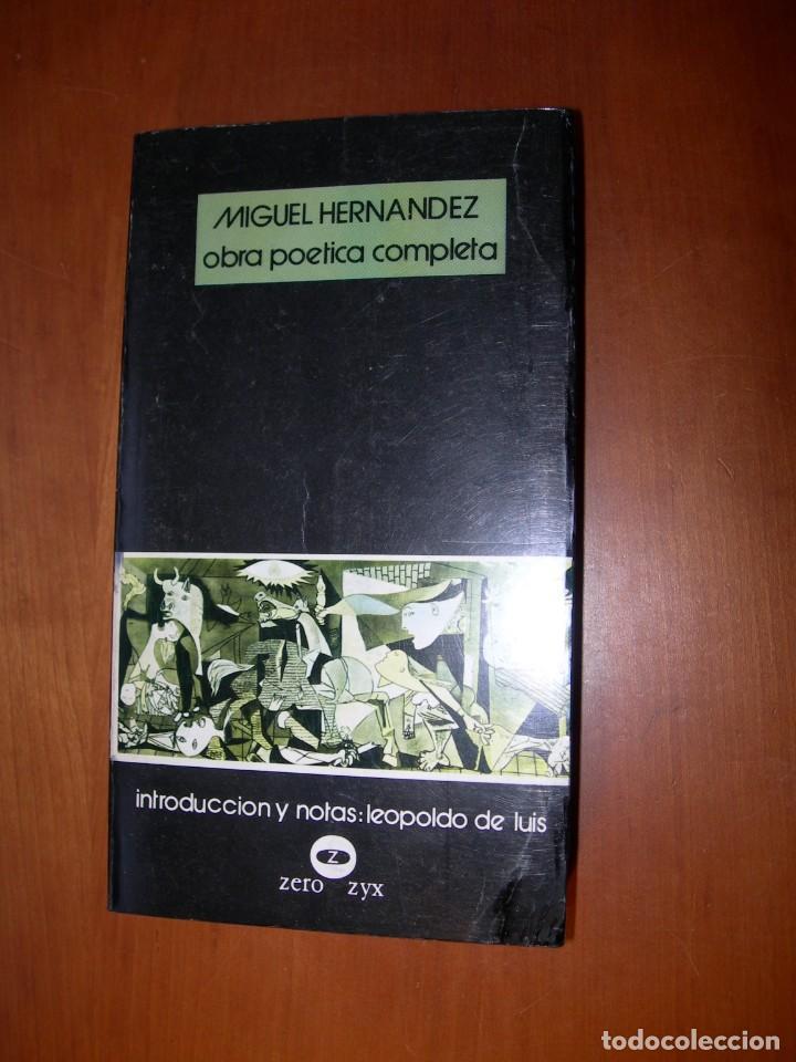 OBRA POÉTICA COMPLETA / MIGUEL HERNANDEZ (Libros Nuevos - Literatura - Poesía)